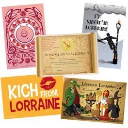 Lot de 5 cartes postales Collection Lor'N Cool