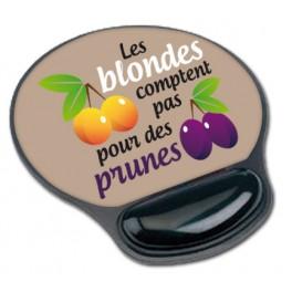 Tapis de souris Les blondes comptent pas pour des prunes